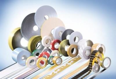Lohmann GmbH & Co. KG Neuwied Taśmy klejące; dwustronne; do produkcji przemysłowej, Techniczne taśmy klejące, Samoprzylepne elementy tłoczone, Specjalne etykiety