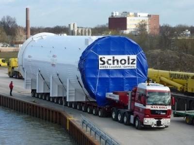 Max Goll GmbH Düsseldorf montaże przemysłowe,  transport dla dużych obciążeń,  specjalne usługi transportowe,  usługi dźwigowe