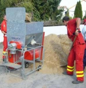 SAQUICK  GmbH Biberach sprzęt do ochrony przed powodziami,  maszyny do napełniania worków,  wagi do napełniania worków,  worki z piaskiem do ochrony przed powodziami