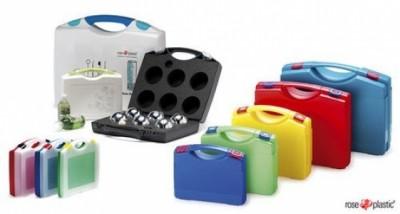 rose plastic AG Hergensweiler typy opakowań do narzędzi,  walizki plastikowe,  niestandardowe opakowania z tworzyw sztucznych,  materiały opakowaniowe z tworzyw sztucznych