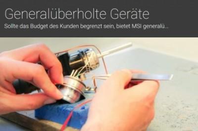 MSI MedServ International Deutschland GmbH Pfullendorf lampy rentgenowskie,  akcesoria rentgenowskie,  konserwacja sprzętu rentgenowskiego,  naprawa sprzętu rentgenowskiego
