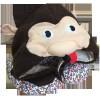 Dziecięca poduszka podróżna Organic Toys z kapturem w kształcie jeża (travel pillow with a hood for kids)